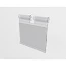 Ценникодержатель навесной для крючков, прозрачный 39/50мм