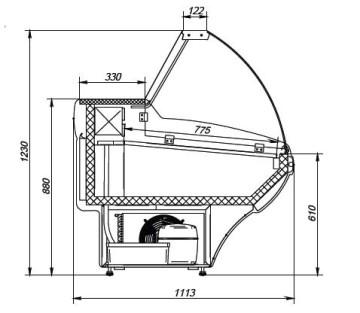 Холодильная витрина Янтарь схема